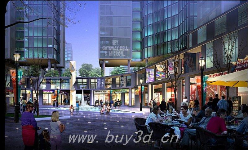 上海三藏建筑效果图psd后期素材 室外效果图psd配景