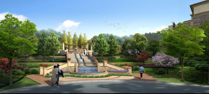 园林景观 效果图psd 分层素材 景观设计素材 最新后期素材