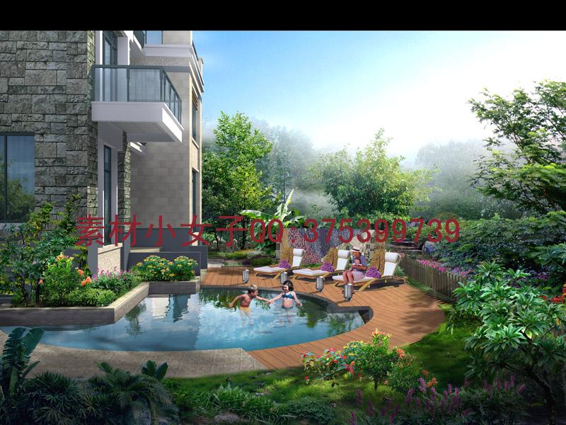 ①最新园林景观psd分层 景观素材 园林设计素材 园林景观
