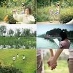 休闲健康跑步骑车运动温馨家庭和谐小区生活高清视频实拍影视素材